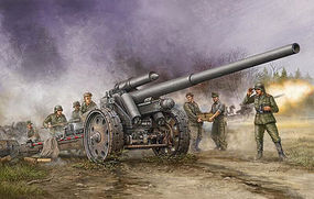 Trumpeter German 10.5cm s.K 18 Heavy Artillery Gun Plastic Model Military Vehicle 1/35 Scale #2305