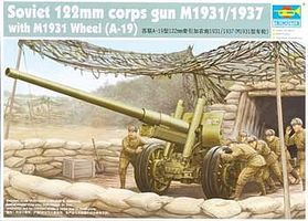 Trumpeter Soviet 122mm Corps Gun M1931/1937 with M1931 Wheels Plastic Model Diorama 1/35 Scale #2316
