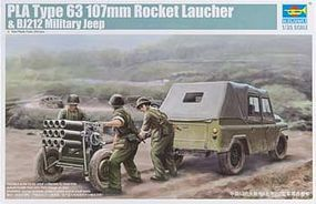 Trumpeter PLA Type 63 107mm Rocket Launcher/Jeep Plastic Model Military Vehicle 1/35 Scale #2320