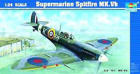 Supermarine Spitfire Mk.Vb-24 Aircraft Plastic Model Airplane Kit 1/24 Scale #2403