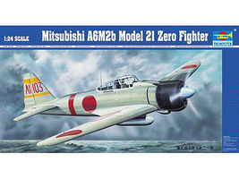 A6M2B Zero Type 21 Aircraft Plastic Model Airplane Kit 1/24 Scale #2405