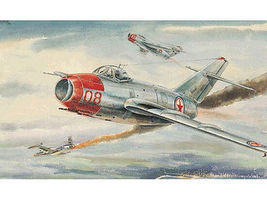 Mig15 Bis Fagot B Fighter Aircraft Plastic Model Airplane Kit 1/48 Scale #2806