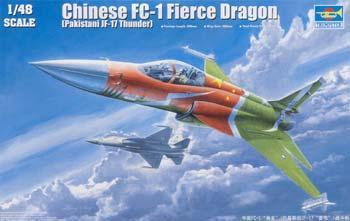 Trumpeter Chinese FC1 Fierce Dragon (Pakistani JF17 Thunder) -- Plastic Model Airplane -- 1/48 Scale -- #2815