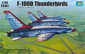 Trumpeter F100D Thunderbirds USAF Aircraft Plastic Model Airplane Kit 1/48 Scale #2822