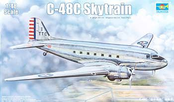 Trumpeter C-48C Skytrain Transport Aircraft -- Plastic Model Airplane Kit -- 1/48 Scale -- #2829