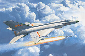 Trumpeter PLA J-8IID Chinese Finback Fighter Aircraft -- Plastic Model Airplane Kit -- 1/48 Scale -- #2846