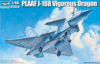 Trumpeter PLAAF J10B Vigorous Dragon Fighter Aircraft -- Plastic Model Airplane Kit -- 1/48 Scale -- #2848