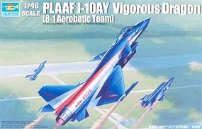 Trumpeter PLA J10AY Vigorous Dragon Ba Yi Aerobatic Team Aircraft Plastic Model Airplane 1/48 #2857