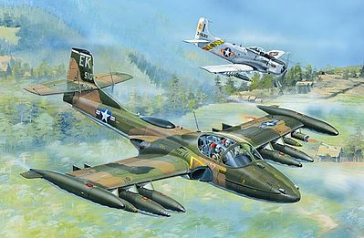 Trumpeter US A-37A Dragonfly Light Ground Attack Aircraft -- Plastic Model Airplane Kit -- 1/48 Scale -- #2888