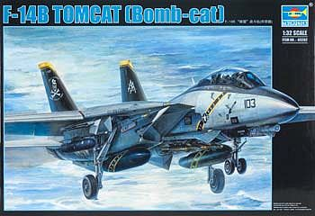 Trumpeter F14B Tomcat Fighter Aircraft -- Plastic Model Airplane Kit -- 1/32 Scale -- #3202