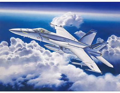 Trumpeter F/A18E Super Hornet Fighter Aircraft -- Plastic Model Airplane Kit -- 1/32 Scale -- #3204