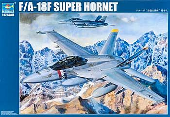 Trumpeter F/A18F Super Hornet Fighter Aircraft -- Plastic Model Airplane Kit -- 1/32 Scale -- #3205