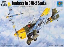 Trumpeter Junkers Ju-87B-2 Stuka Ground Attack Aircraft Plastic Model Airplane Kit 1/32 Scale #3214