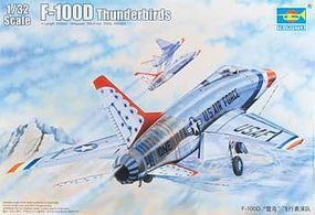 Trumpeter F100D Thunderbirds USAF Aircraft Plastic Model Airplane Kit 1/32 Scale #3222