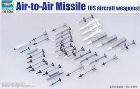 Trumpeter US Aircraft Weapons Set Air-to-Air Missiles Plastic Model Military Diorama 1/32 Scale #3303