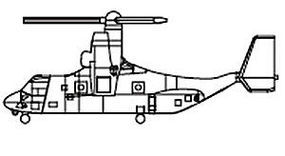 Trumpeter MV-22 Saprey Helicopters Plastic Model Helicopter Kit 1/700 Scale #3457