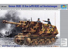 Trumpeter German 39H Tank with 105mm Plastic Model Military Vehicle 1/35 Scale #353
