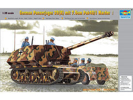 Trumpeter German Panzerjaeger 39(H) with 7.5cm Pak 40/3 Marder I Plastic Model Kit 1/35 Scale #354