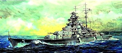 Trumpeter German Bismarck Battleship 1941 -- Plastic Model Military Ship Kit -- 1/200 Scale -- #3702