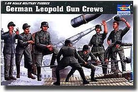 Trumpeter German Leopold Railway Gun Crew Figure Set Plastic Model Military Figure 1/35 Scale #406