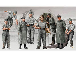 Trumpeter German Morser Karl Artillery Crew Figure Set Plastic Model Military Figure 1/35 Scale #409