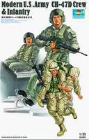 Trumpeter US Army CH47D Helicopter Crew 2003 Figure Set Plastic Model Figure Kit 1/35 Scale #415