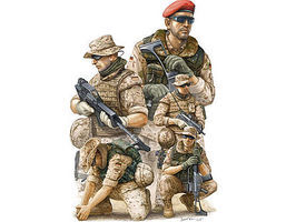 Trumpeter Modern German ISAF NATO Soldiers in Afghanistan Figure Set Plastic Model 1/35 Scale #421