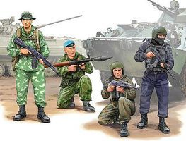Trumpeter Russian Special Operation Force Figure Set 4 Plastic Model Military Figure 1/35 Scale #437