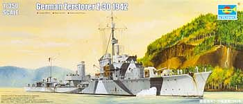 Trumpeter German Zerstorer Z-30 Destroyer 1942 Plastic Model Military Ship 1/350 Scale #5322