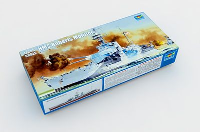 Trumpeter HMS Roberts British Monitor Plastic Model Military Ship 1/350 Scale #5335