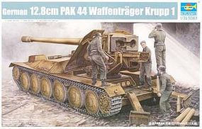 Trumpeter German Krupp 1 12.8cm PaK 44 Waffentrager Carrier Plastic Model Kit 1/35 Scale #5523