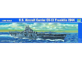 Trumpeter USS Franklin CV13 Aircraft Carrier 1944 Plastic Model Military Ship 1/350 Scale #5604