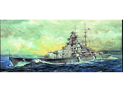 Trumpeter German Bismarck Battleship 1941 Plastic Model Military Ship 1/700 Scale #5711