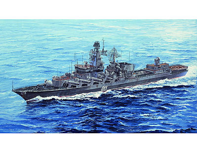 Trumpeter Marshal Ustinov Russian Slava Class Cruiser -- Plastic Model Military Ship -- 1/700 Scale -- #5722