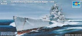 Trumpeter German Admiral Hipper Heavy Cruiser 1940 Plastic Model Military Ship 1/700 Scale #5775