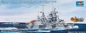 Trumpeter German Admiral Hipper Heavy Cruiser 1941 Plastic Model Military Ship 1/700 Scale #5776