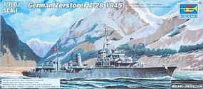 Trumpeter German Zerstorer Z-28 Destroyer 1945 Plastic Model Military Ship 1/700 Scale #5790