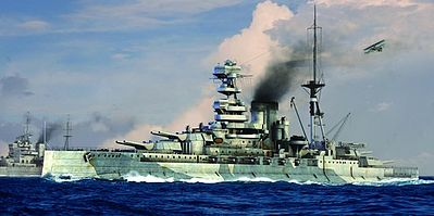 Trumpeter HMS Barham British Battleship 1941 -- Plastic Model Military Ship -- 1/700 Scale -- #5798