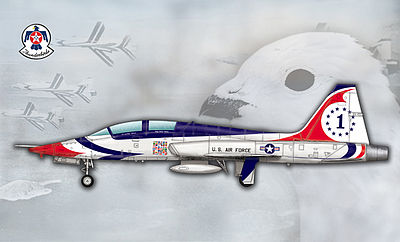 Trumpeter USAF T-38A Talon Thunderbird Jet Trainer -- Plastic Model Airplane Kit -- 1/48 Scale -- #5809