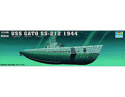 Trumpeter USS Gato SS212 Submarine 1944 Plastic Model Military Ship 1/144 Scale #5906