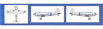 Trumpeter SB2U Scout Bomber (6) Plastic Model Airplane 1/350 Scale #6244