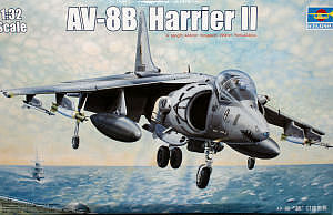 Trumpeter AV-8B Harrier -- Plastic Model Airplane -- 1/350 Scale -- #6259