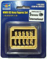 Trumpeter WWII US Navy Figure Set (60) Plastic Model Military Figure Kit 1/200 Scale #6633