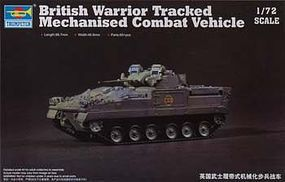 Trumpeter British Warrior Tracked Mechanized Combat Vehicle Plastic Model Military Kit 1/72 #7101