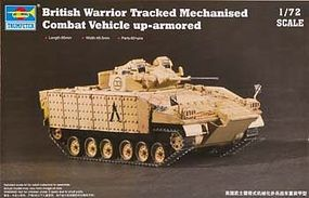 Trumpeter British Warrior Tracked MCV Plastic Model Military Vehicle 1/72 Scale #7102