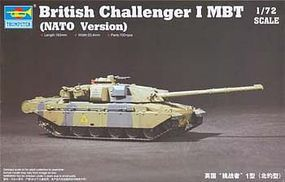 Trumpeter British Challenger I MBT NATO Version Plastic Model Military Vehicle 1/72 Scale #7106