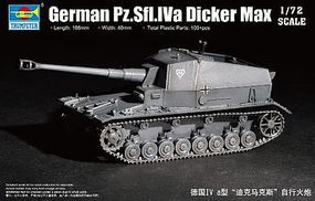 Trumpeter German Pz.Sfl.Iva Dicker Max Tank Plastic Model Military Vehicle 1/72 Scale #7108
