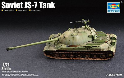 Trumpeter Soviet JS-7 (IS-7) Tank Plastic Model Military Vehicle Kit 1/72 Scale #7136