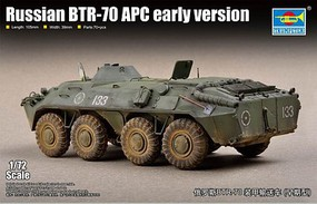 Trumpeter Russian BTR-70 Armored Personnel Carrier Earl Plastic Model Military Vehicle Kit 1/72 #7137