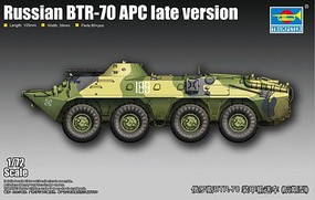 Trumpeter Russian BTR-70 Armored Personnel Carrier Late Plastic Model Military Vehicle Kit 1/72 #7138